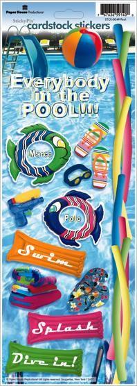 Pool Fun Cardstock Scrapbooking Stickers