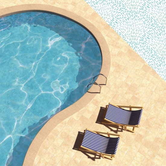 Poolside 12x12 Double Sided Scrapbooking Paper