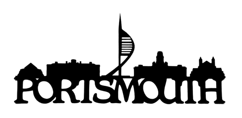 Portsmouth Scrapbooking Laser Cut Title with Skyline