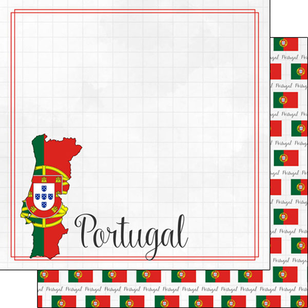 Portugal 12x12 Double Sided Scrapbooking Paper