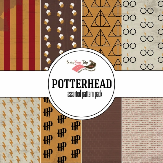 Potterhead Harry Potter 12x12 Scrapbooking Paper Pack