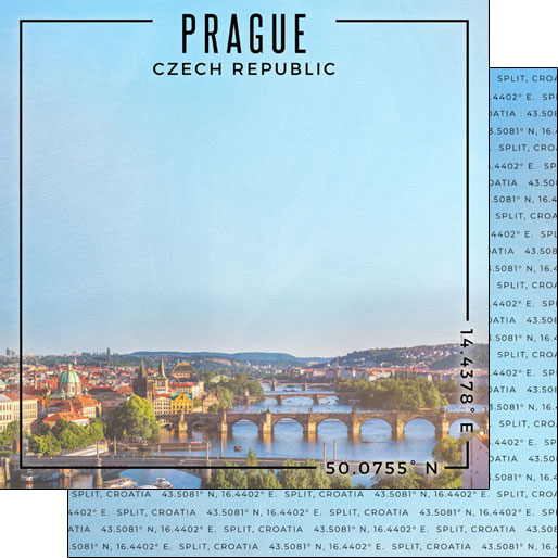 Prague 12x12 Double Sided Scrapbooking Paper