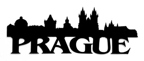 Prague Scrapbooking Laser Cut Title with Skyline