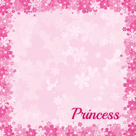 Princess 12x12 Scrapbooking Paper