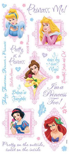 Princess Phrases Large Scrapbooking Stickers