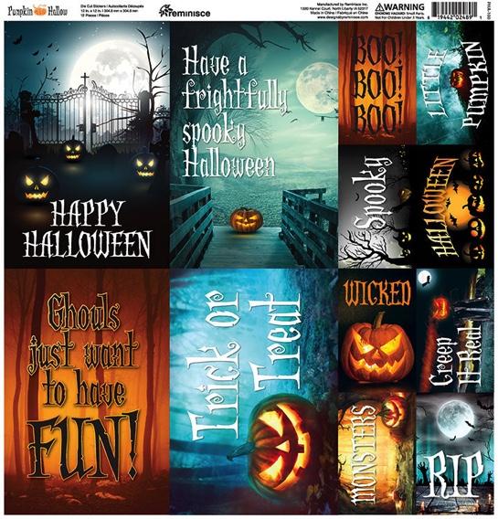 Pumpkin Hallow 12x12 Cardstock Scrapbooking Stickers