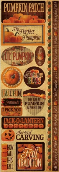 Pumpkin Patch Cardstock Scrapbooking Stickers and Borders
