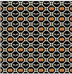 Pumpkins Cats and Bones 12x12 Scrapbooking Paper