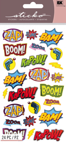 Punch Captions Scrapbooking Stickers