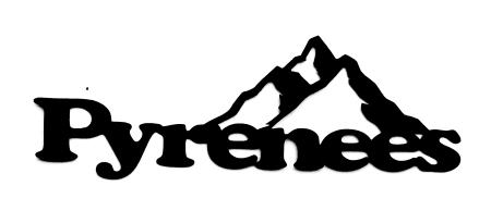 Pyrenees Scrapbooking Laser Cut Title with Mountains
