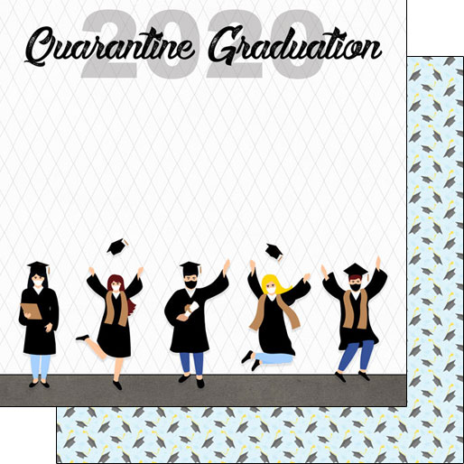 2020 Graduation 12x12 Double Sided Scrapbooking Paper
