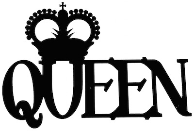 Queen Scrapbooking Laser Cut Title with Crown