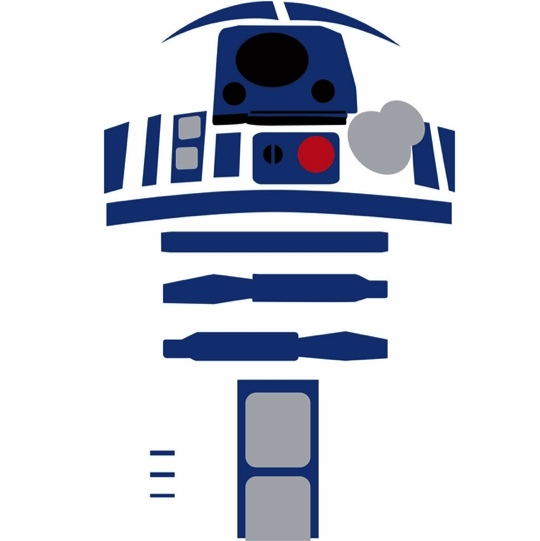 R2 D2 Star Wars 12x12 Scrapbooking Paper