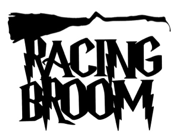 Racing Broom Scrapbooking Laser Cut Title with broom