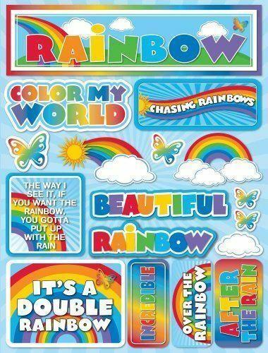 Rainbow 3D Scrapbooking Stickers