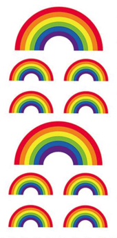 Rainbows Scrapbooking Mini Stickers