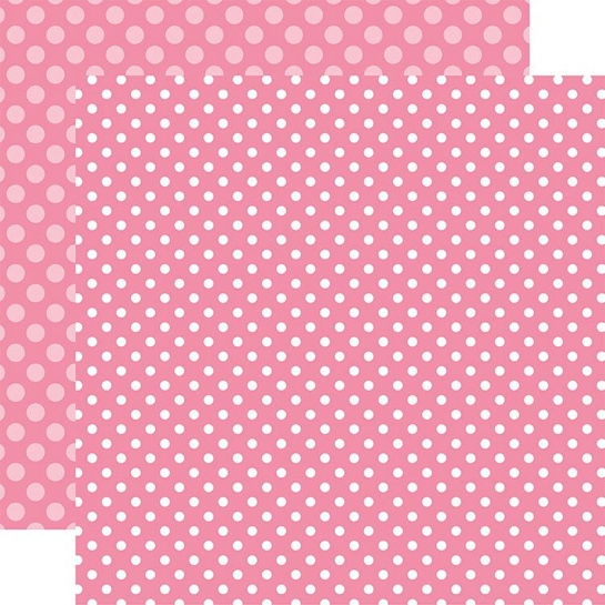 Raspberry Dot Double Sided 12x12 Scrapbooking Paper
