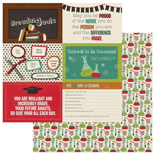Real Genius 4x6 Cards 12x12 Double Sided Scrapbooking Paper