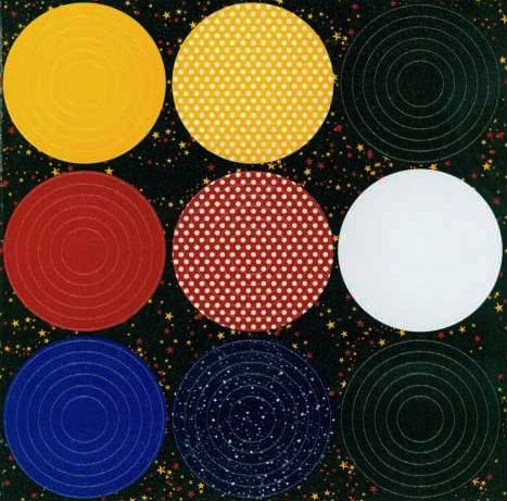 Real Magic Nested Glitter Circles 12x12 Cardstock Scrapbooking Stickers