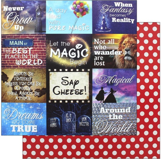 Real Magic Double Sided 12x12 Scrapbooking Paper