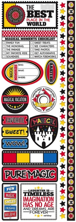 Real Magic Cardstock Scrapbooking Stickers and Borders