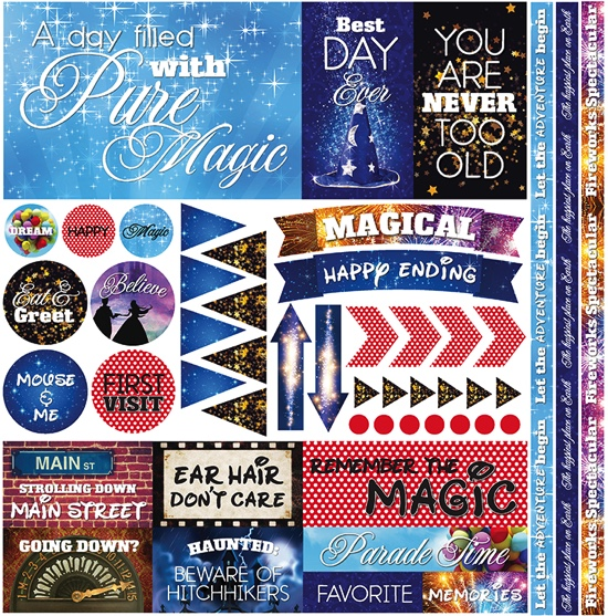 Real Magic 12x12 Cardstock Scrapbooking Stickers