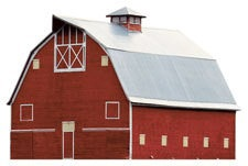 Farm Barn Scrapbooking Die Cut