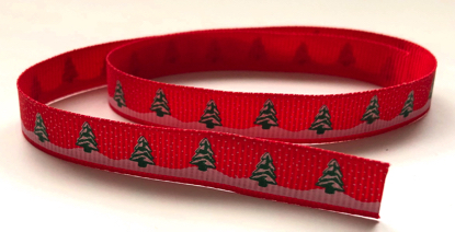 Christmas Tree Red Scrapbooking Ribbon