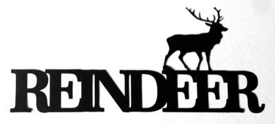 Reindeer Scrapbooking Laser Cut Title with Deer
