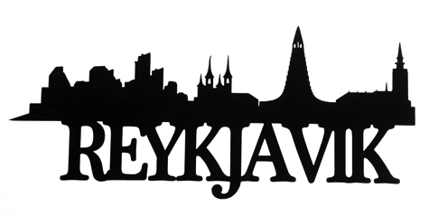 Reykjavik Scrapbooking Laser Cut Title with Skyline