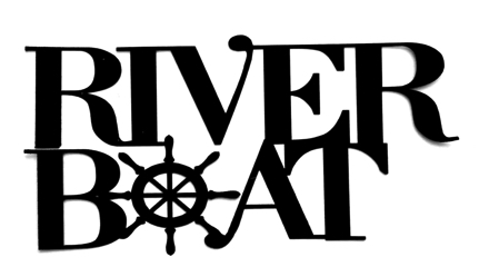 River Boat Scrapbooking Laser Cut Title with Wheel