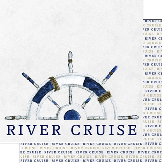 River Cruise 12x12 Scrapbooking Double Sided Paper