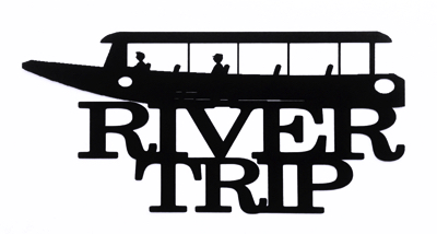 River Trip Scrapbooking Laser Cut Title with Boat