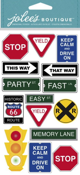 Road Signs Jolees Large Scrapbooking Stickers