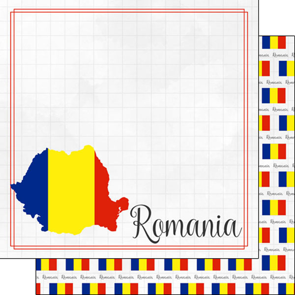 Romania 12x12 Double Sided Scrapbooking Paper