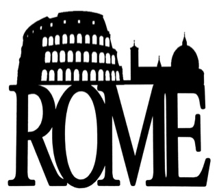 Rome Scrapbooking Laser Cut Title with Colosseum 2