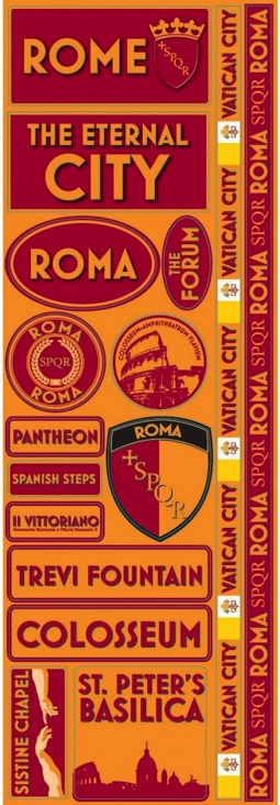 Rome Cardstock Scrapbooking Stickers and Borders