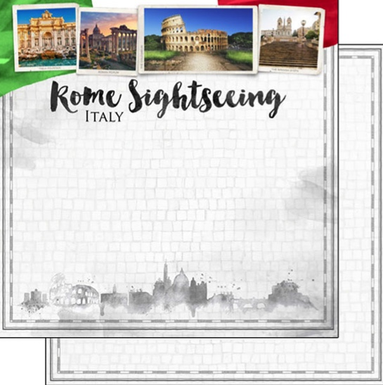 Rome Sightseeing 12x12 Double Sided Scrapbooking Paper