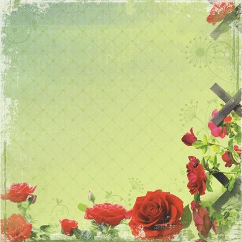 Rose Garden 12x12 Scrapbooking Paper