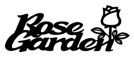 Rose Garden with Rose Scrapbooking Laser Cut Title