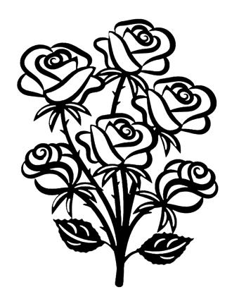 Roses Intricate Scrapbooking Laser Cut