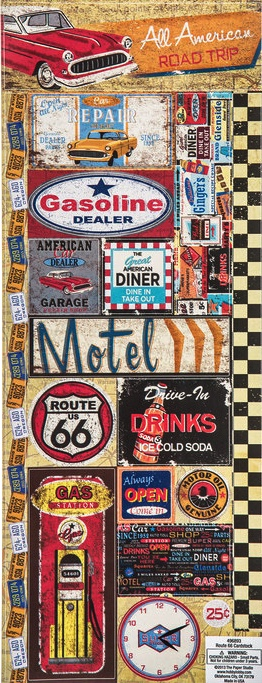 Route 66 Cardstock Scrapbooking Stickers