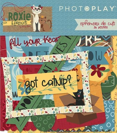Roxie Cat Die Cut Scrapbooking Ephemera