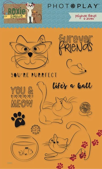 Roxie Cat Clear Acrylic Stamps