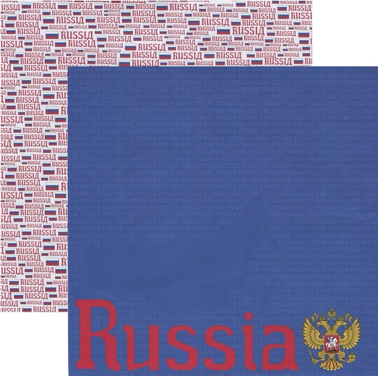 Russia 12x12 Double Sided Scrapbooking Paper
