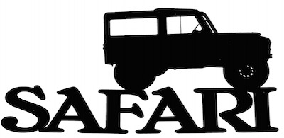 Safari Scrapbooking Laser Cut Title with Jeep