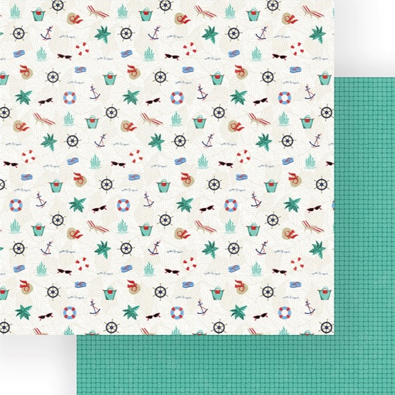 Sail Away Double Sided 12x12 Scrapbooking Paper