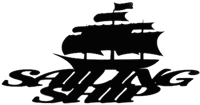 Sailing Ship Scrapbooking Laser Cut Title with Ship