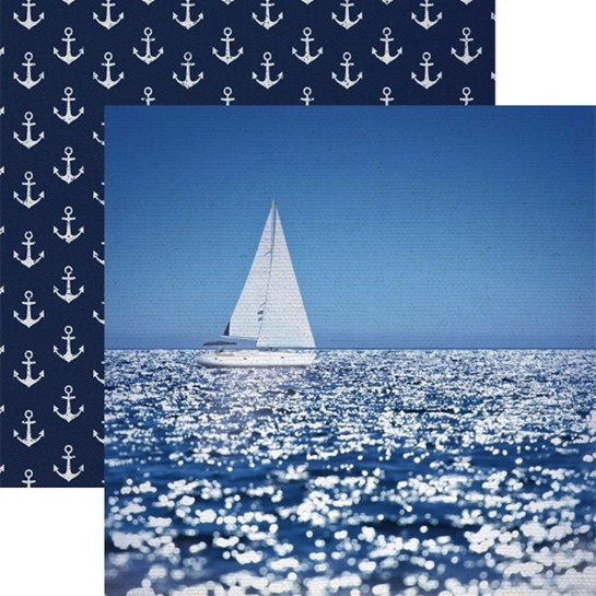 Sailing Away 12x12 Double Sided Scrapbooking Paper