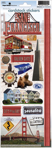 San Francisco Cardstock Scrapbooking Stickers